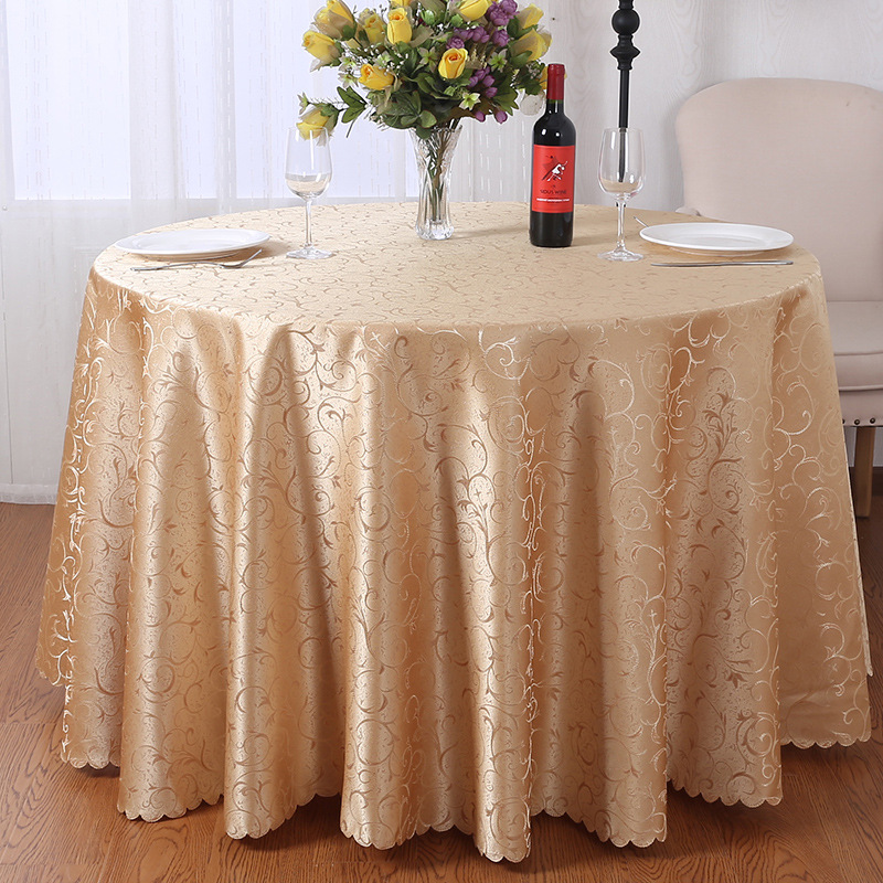 Round Tablecloth for Table 100% Polyester Table Cloth Tablecloths Wholesale Custom Dining Table Cover for  Wedding Parties Decor