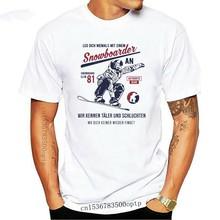 2019 gorąca sprzedaż moda Snowboard koszulka noga dich nie mit einem Snowboarder zabawa narty koszulka dla motocyklistów
