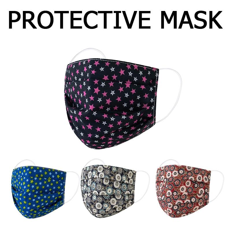 Многоразовая модная маска для рта с принтом для взрослых, дышащая Пылезащитная хлопковая маска для лица, Защитные Моющиеся маски