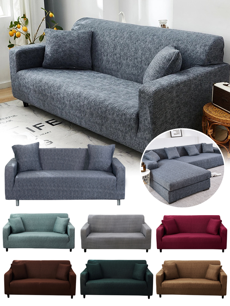 Sofa-Cover Stretch Loveseat Elastic Living-Room Cross-Pattern for All-Inclusive