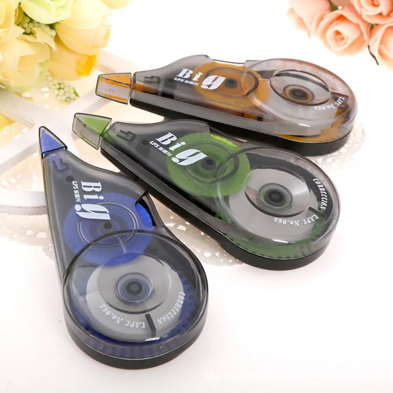 LPS Correction Tape 965 Three Loaded Large-Volume Corretion Pen/fluid Correction Tape Students Office Stationery Supplies