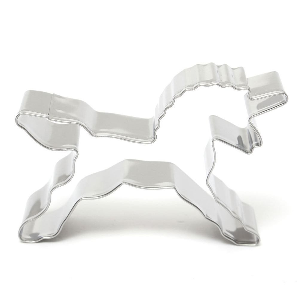 Hot 1Pcs Unicorn Head Cookie Cutter Molds Cake Decorating Biscuit Pastry Baking Mould Cake Chocolate Bread Dessert Mould