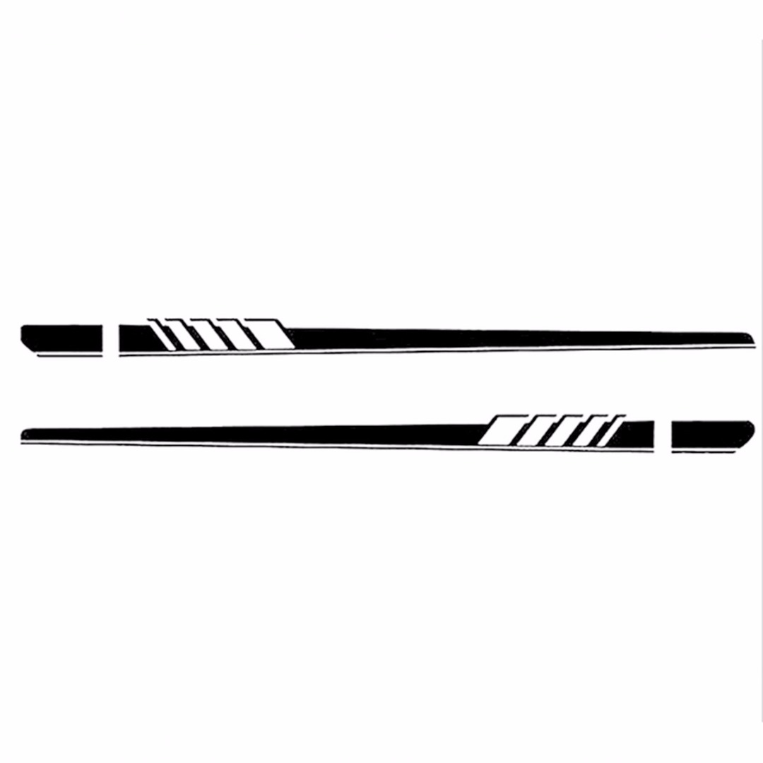 2Pcs Car Long Stripe Vinyl Decal Sticker Side Body Racing Sports Graphic For Mercedes Benz C Class W204 W205 C180 C200 C63 -AMG image