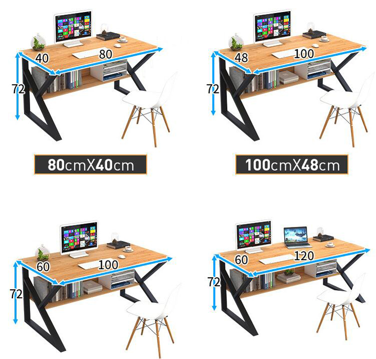 Купить с кэшбэком 100*60cm Computer desk desktop home office modern bedroom student small desk study table single combination desk