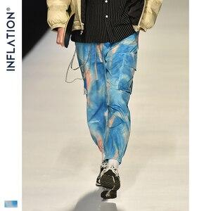 Image 1 - อัตราเงินเฟ้อ 2020 FW ผู้ชาย Die Dye Jogger กางเกงหลวมพอดีผู้ชายฤดูใบไม้ร่วง Jogger กางเกงเอวผู้ชาย Tie DYE กางเกง 93423W
