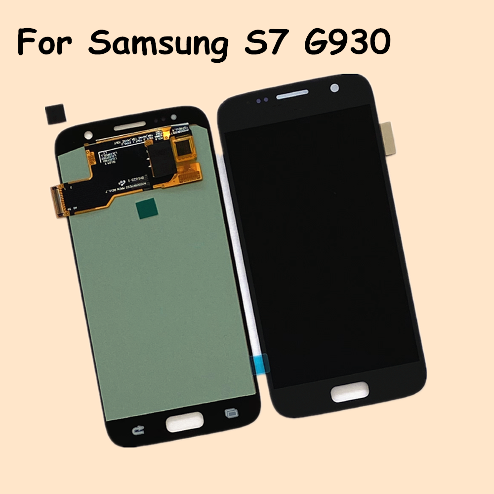 OLED LCD For <font><b>Samsung</b></font> <font><b>Galaxy</b></font> <font><b>S7</b></font> SM-G930 LCD <font><b>Display</b></font> Touch Panel Digitizer Assembly For <font><b>SAMSUNG</b></font> <font><b>S7</b></font> G930F LCD <font><b>Display</b></font> Replacement image