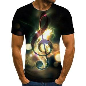 2020 summer music and art instruments 3D printed fashion t-shirt unisex hip-hop style t-shirt street casual summer