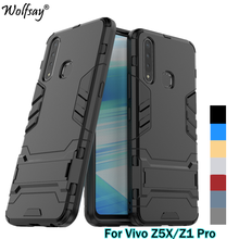 For Case Vivo Z5X Z1 Pro Shockproof Hybrid Stand Silicone Armor Back Cover Phone