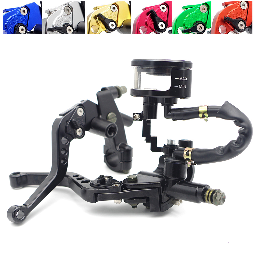 Universal Motorcycle Brake Clutch Handlebar Levers with oil cup For SSR YZF WR CRF SDG XR