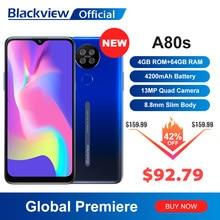 Смартфон Blackview A80s Helio A25, Android 10, 4 + 64 ГБ, 13 МП, 4200 ма · ч, 6,2 дюйма, 4G