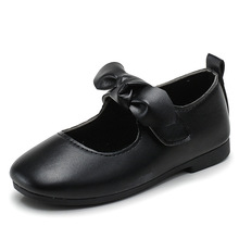 Princess Bow Shoes Baby Kids Leather Little Girl Flat Dress Shoes For Girls School Children Shoes 1 2 3 4 5 6 7 8 9 10 11 Years 2019 summer girl dress kids children dress cotton striped princess dress baby girls clothes 4 5 6 7 8 9 10 years girl costume
