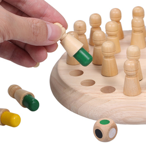 Image 3 - Wooden Memory Stick Chess Game Fun Block Board Game Educational Color Cognitive Ability Family Toys Kids party game for kids