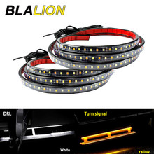 2pcs LED Car Side Pedal Lights Undercarriage Atmosphere Lamp Truck Chassis Lights Turn Signal Lamp Auto Strip Lights Waterproof