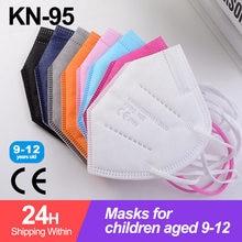 Masque facial réutilisable pour enfants, lot de 10 à 100 pièces, FFP2, KN95, respirateur