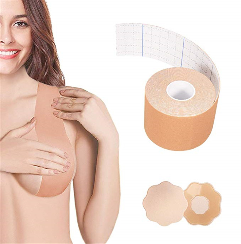 Strapless Plus Size Comfort Sexy Seamless Big Bra Breast Lift Tape Body Invisible Nipple Cover Silicone Push Up Bras For Women