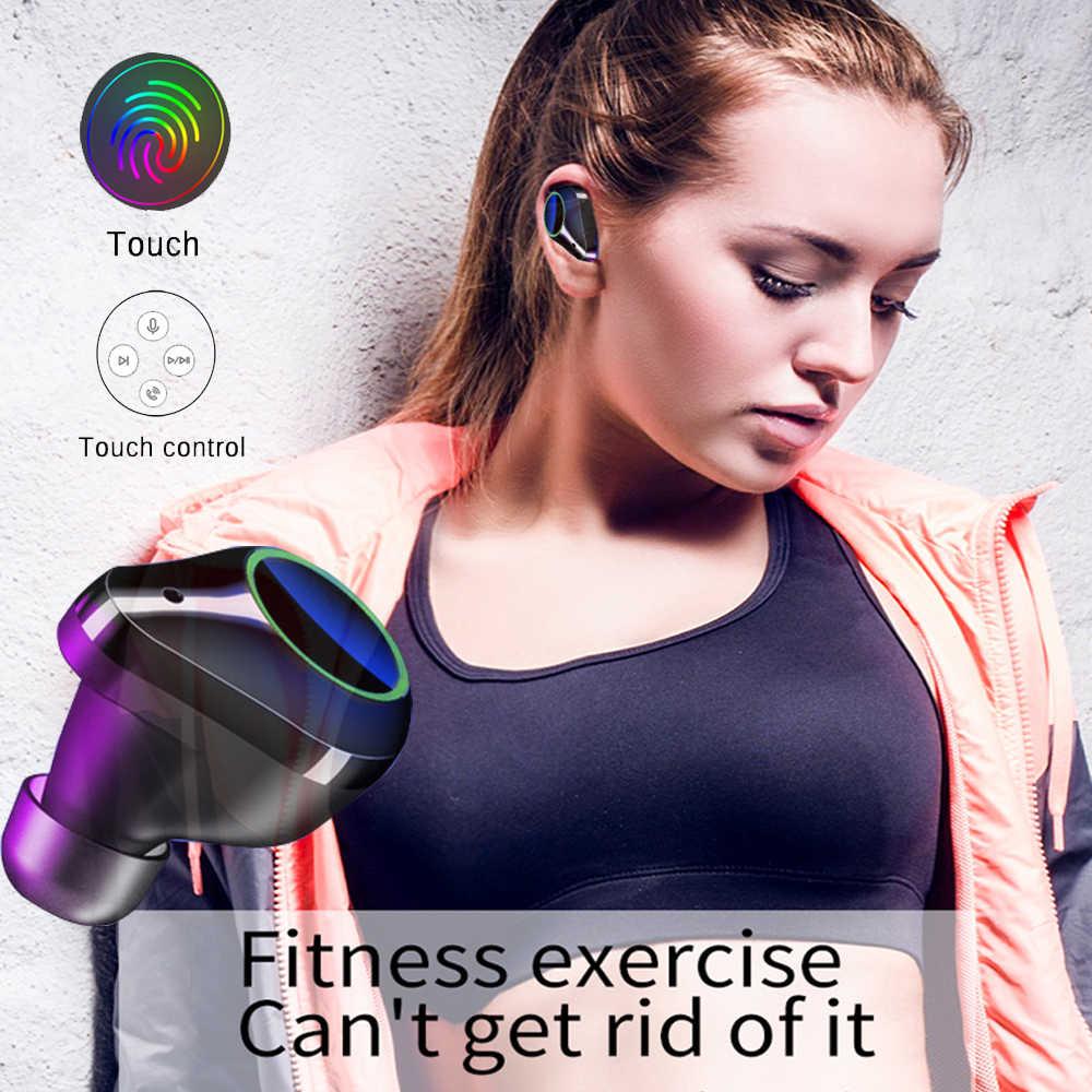 7000mAh T9 TWS sans fil Bluetooth 5.0 écouteurs affichage de puissance contrôle tactile Sport stéréo sans fil écouteurs casque boîte de charge