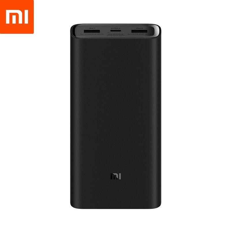 Batterie externe de xiaomi 3 20000mAh haute Version batterie externe USB-C USB-A 2 voies Charge rapide 3 Ports sortie pour téléphone portable