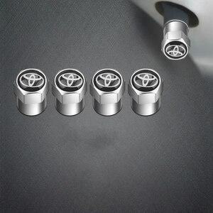 4 шт. колпачок клапана для автомобильных шин наклейка колпачок пылезащитный колпачок для шины для Toyota corolla yaris chr auris avensis t25 автомобильные акс...