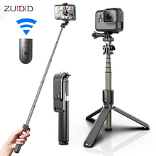 Portable Wireless Bluetooth Selfie Stick With Tripod Extendable Foldable Monopod For IOS Android iPhone 12 Pro Gopro Cameras