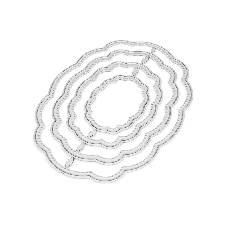 Oval Lattice Frame Dies Metal Cutting Dies New 2019 for Scrapbooking Christmas Decoration DIY Cards Making Crafts Dies Cut