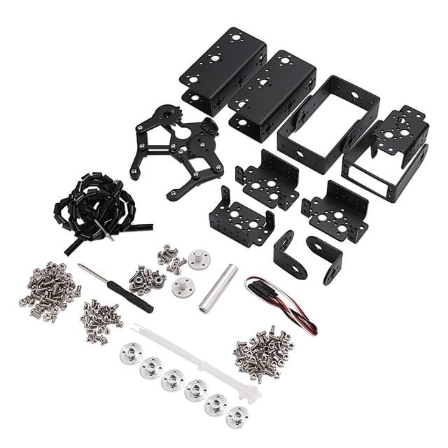6 DOF Robot Manipolatore Della Lega del Metallo Braccio Meccanico Morsetto Artiglio Kit MG996R per Arduino Robot Educazione