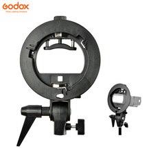 GODOX S Type ทนทานพลาสติกวงเล็บ Bowens Mount สำหรับ Speedlite Flash Snoot Softbox Photo Studio อุปกรณ์เสริม
