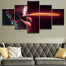 Modern Canvas Painting Modular Game Poster 5 Pieces 2 DotA Juggernaut Wall Art Home Decor Boys Room Printed Picture Artwork(China)