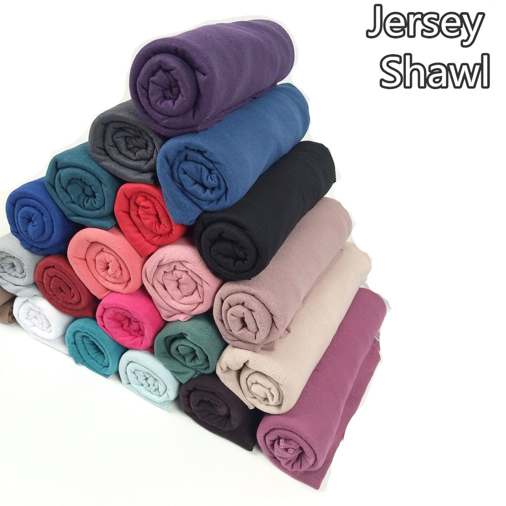 31color High quality jersey   scarf   cotton plain elasticity shawls maxi hijab long muslim head   wrap   long   scarves  /  scarf   10pcs/lot