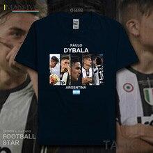 Paulo Dybala t shirt 2019 jerseys Argentina footballer star tshirt 100% cotton fitness t-shirt clothing streetwear summer new 20