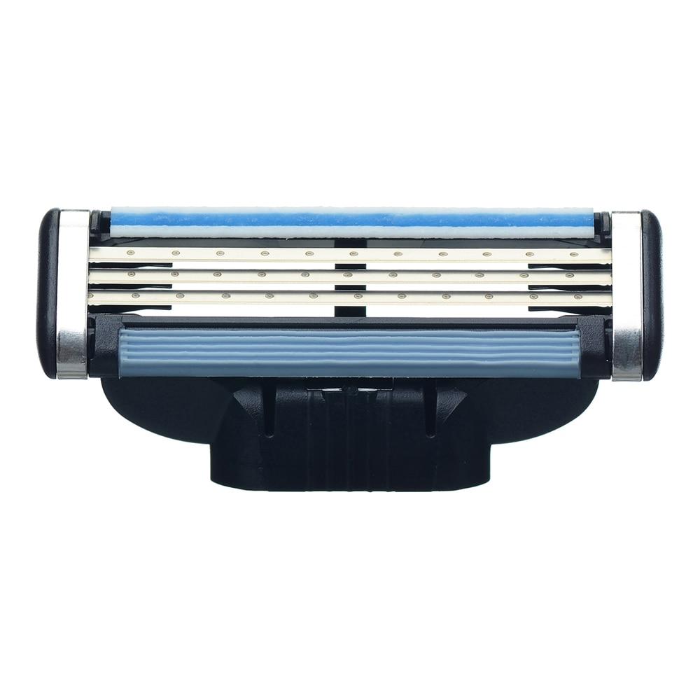 Купить с кэшбэком 4pcs/lot Shaver Cassette for Men Face Care 4-Layer Shaving Blade Compatible for Gillettee Mache3
