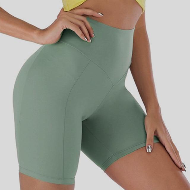 Woman Spandex Yoga Shorts  3