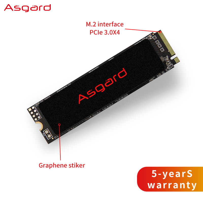Asgard M.2 Ssd M2  PCIe NVME 250GB 500GB 1TB 2TB Solid State Drive 2280 Internal Hard Disk Hdd For Laptop