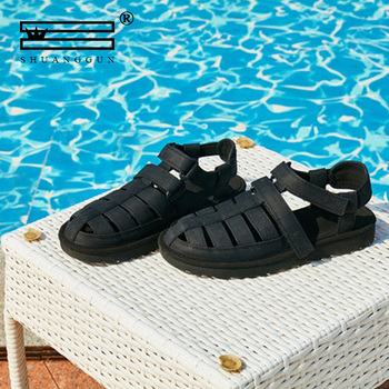 Classic Summer Shoes Men's Sandals Roman Soft Genuine Leather Quality Man Summer Casual Shoes Men Beach Sandals Big Shoes