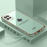 Blatt Silikon Platz Weichen Seil Telefon Fall Für Huawei P20 P30 P40 Lite Mate 40 30 20 Pro Y7A Y9S y9 Prime 2019 Lanyard Abdeckung Capa