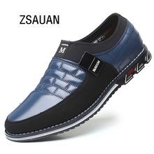 ZSAUAN Comfortable Men Loafers Leather Casual Sneaker Autumn Spring Moccasins Slip-on Flats Big Size 38-48 Drop Shipping