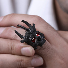 AILIN New Punk Copper Skull Ring for Men Retro Gothic Rings Trendy Male Jewelry Halloween Accessories