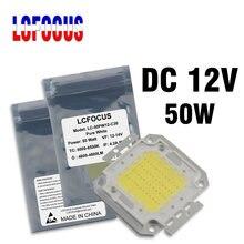 Chip COB LED de alta potencia CC, 12V, 1W, 3W, 5W, 10W, 20W, 30W, 50W, 100 W, SMD, blanco frío y cálido para diodo de luz LED de 1, 3, 5, 10, 50 y 100 W