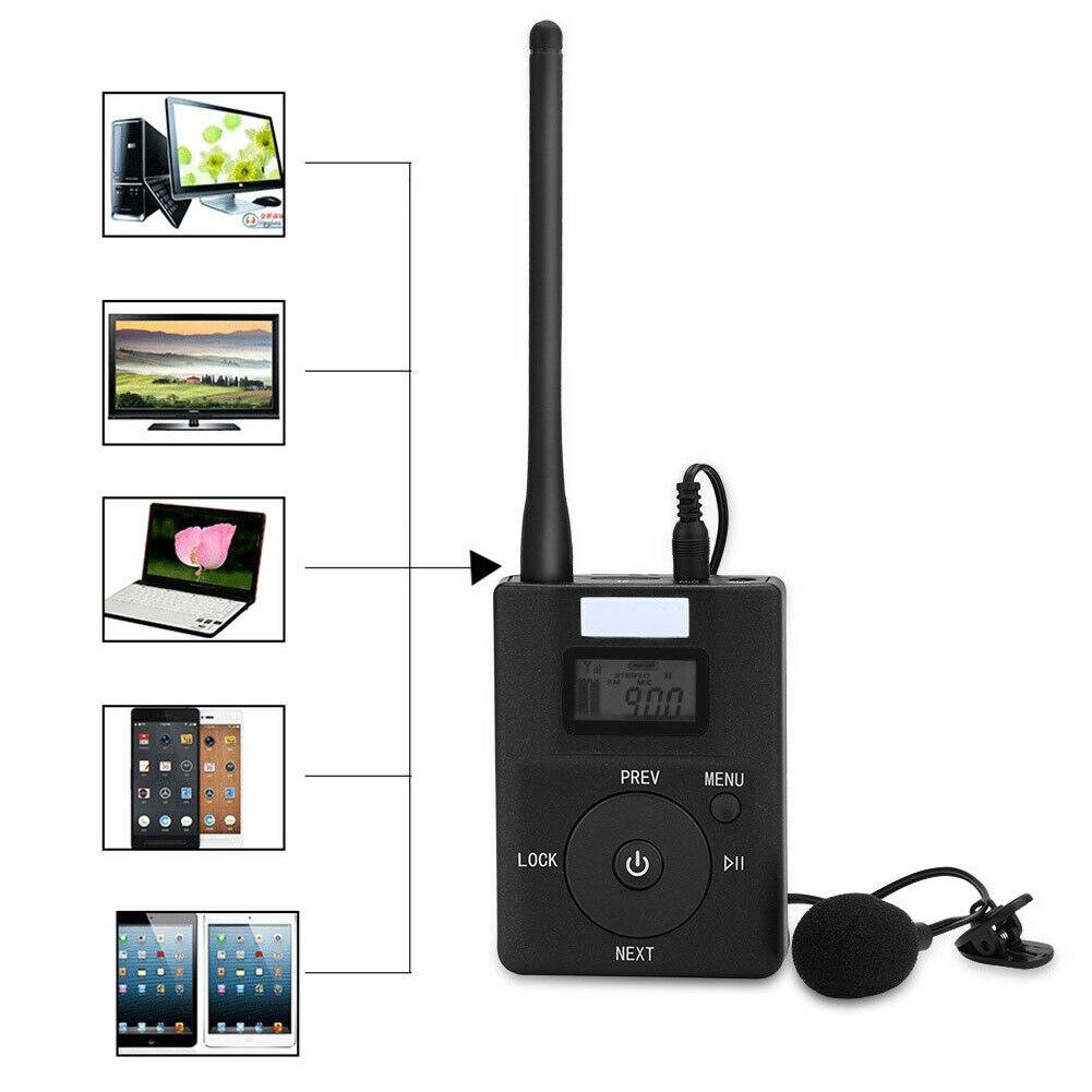 Radio stéréo Portable Mini rapide FM émetteur 3.5mm Aux adaptateur de diffusion sans fil Support TF carte pour MP3 PC CD faible puissance - 4