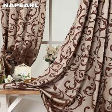 NAPEARL 1 Piece Luxury Design Kitchen Door Curtains Bedroom Drape Semi-Blackout Window Blind for Balcony European Modern
