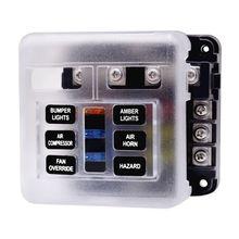 Блок предохранителей со светодиодным индикатором светодиодный светильник& Защитная крышка цепи блок Панель 6 Путь