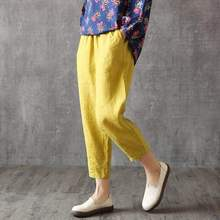 Chinese Style Cotton Pants Summer Ankle-length Women's Pants