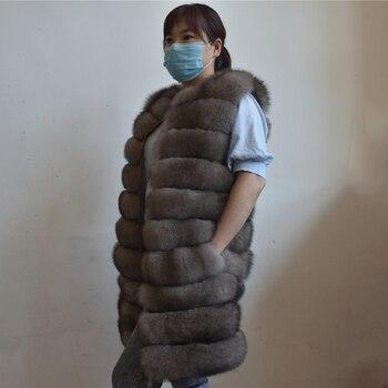 цена на Real Mink Coats Women vest 2020 Winter Top Fashion Pink Fur Coat Elegant Thick Warm Outerwear Fake Fur Jacket