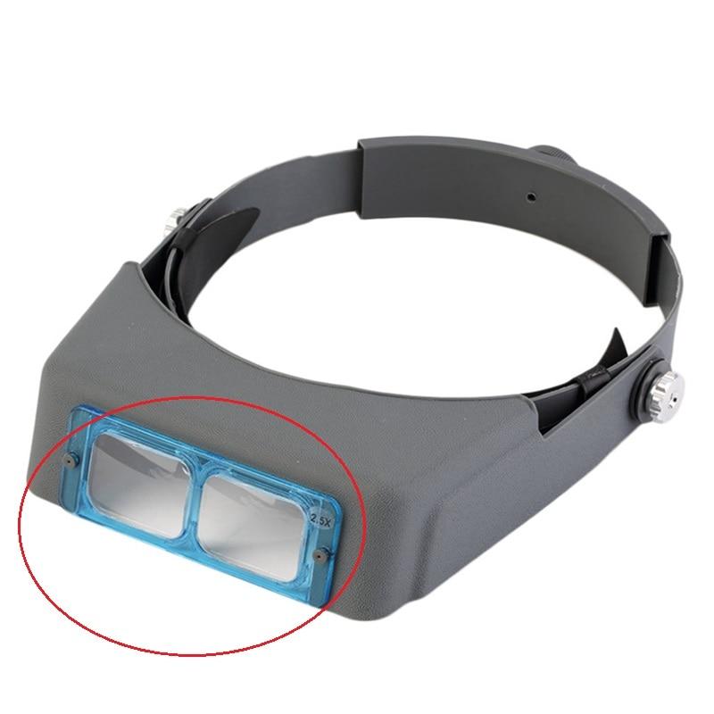 Увеличение 1.5X 2X 2.5X 3.5X объектив для шлема головная повязка Лупа MG81007-B увеличительное стекло оптическое стекло K9 BK7 102x38 мм