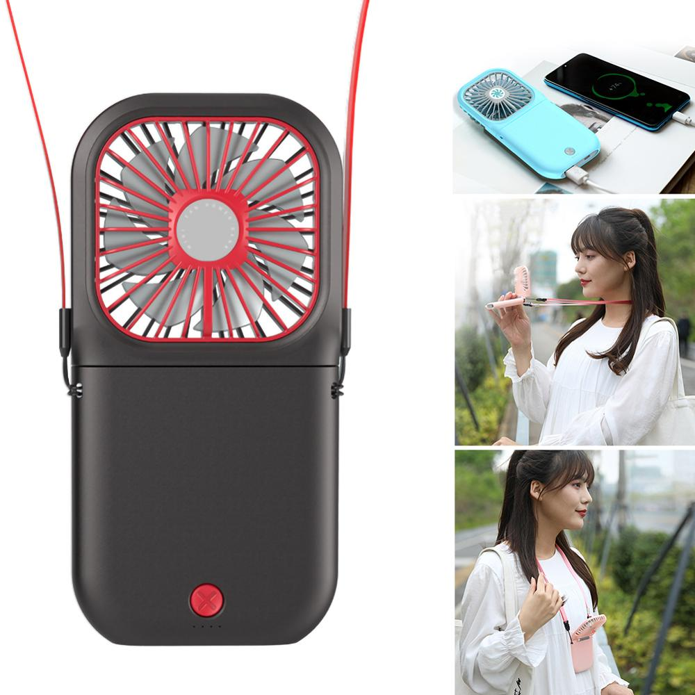 2020New Lazy Portable Hanging Neck Fan Mini Folding USB Charging Mini Hand Summer Office Dormitory Outdoor Personal With Battery