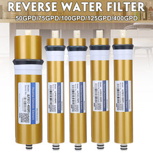 400gpd/125/100/75/50gpd osmose reversa ro membrana substituição sistema de filtro água purificador tratamento potável casa cozinha