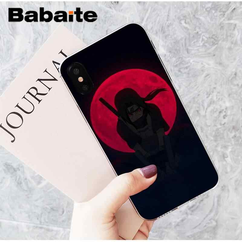 Babaite Naruto Itachi Uchiha moda serin DIY lüks koruyucu kılıf iPhone8 7 6 6S artı X XSMAX 5 5S SE XR 11 11pro 11promax