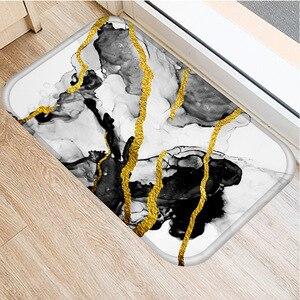 Image 5 - 1 Pcs Marble Doormat Kitchen Carpet Anti Slip Nordic Style Colorful Marble Map Velvet Bottom Door Floor Room Dustproof Mats