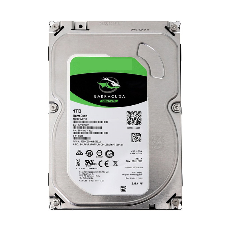 """New HDD For Seagate Brand BarraCuda 1TB 3.5"""" SATA 6 Gb/s 64MB 7200RPM For Internal Hard Disk For DesktopHDD For ST1000DM010 4"""