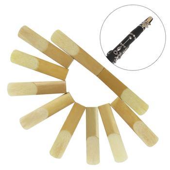 10 unidades de cañas de clarinete bB, cañas de fuerza 2,5, piezas de boquilla de viento de madera