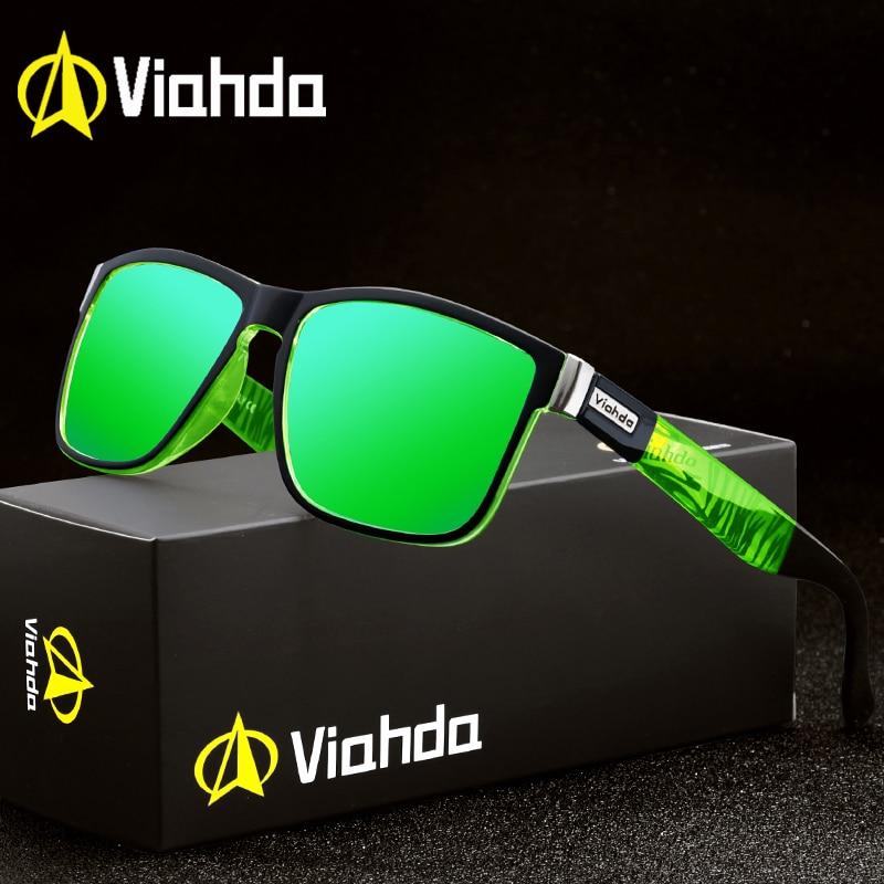 Viahda Brand Design Polarized Sunglasses Men Driving Shades Male Sun Glasses For Men Spuare Mirror Summer UV400 Oculos